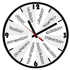 Medical concept with clock