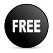 free black circle web glossy icon