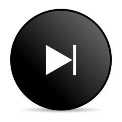 next black circle web glossy icon