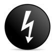 lightning black circle web glossy icon