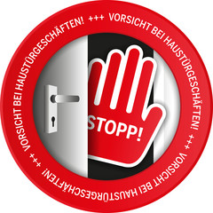 Button Warnung Haustürgeschäfte