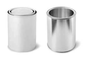 Blank paint metal cans