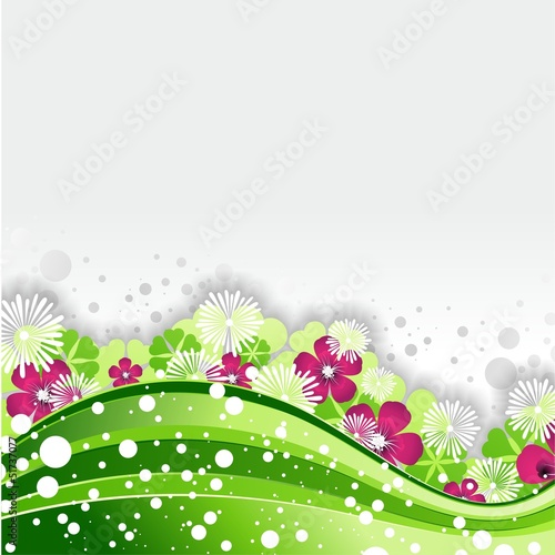 Green Nature Wave Background-Sfondo Verde Natura Astratto