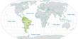 Landkarte von Südamerika und der Welt