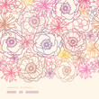 Vector subtle field flowers elegant horizontal border seamless