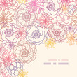 Vector subtle field flowers elegant corner seamless pattern