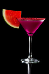 creamy watermelon martini