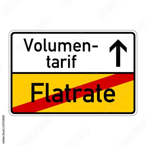 ortsschild flatrate volumentarif I