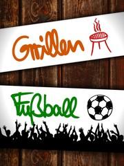 zettl-brettl grillen fussball I