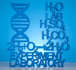 DNA molecules, Chemistry formula background