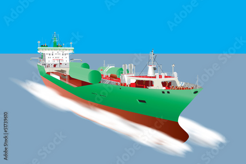 Gas Tanker Ship