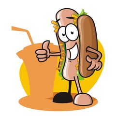 Hotdog cartoon