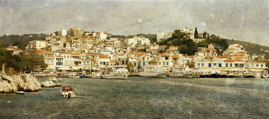 Vintage photo of Skiathos, Greece