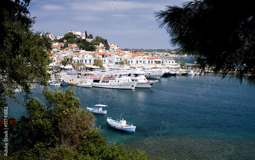 Panorama of Skiathos, Greece
