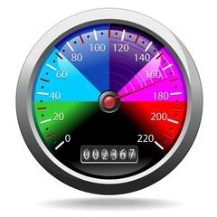 Speedometer Rainbow Colors-Contachilometri Colori Arcobaleno