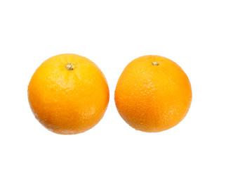 Ripe orange isolated  white background
