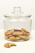 Chocolate chip cookies in jar