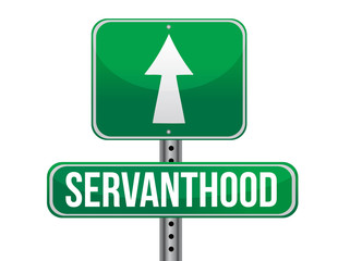 servanthood road sign illustration design