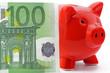 sparschwein mit euronote
