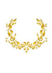 goldener floraler Kranz