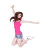 Teen girl jump