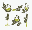 olive plant and oil, signs and symbols