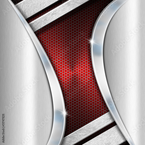 Red and Metal Business Background