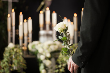 Religion, death and dolor  - man at funeral