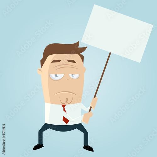 demonstrieren schild streik