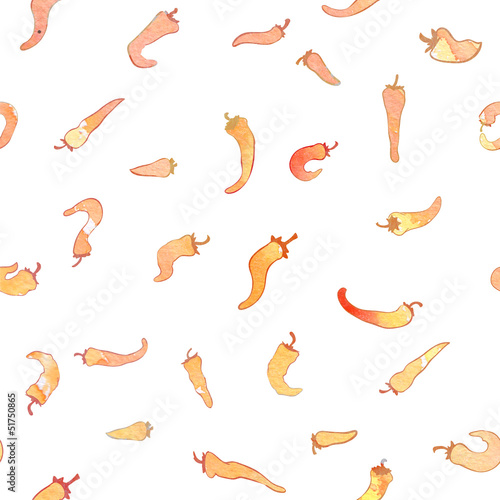 red hot peppers background seamless