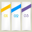 Colorful bookmarks for text. Vector background