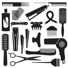 Hairdressing related symbols 2