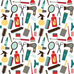 Seamless pattern with hair styling related objects 2