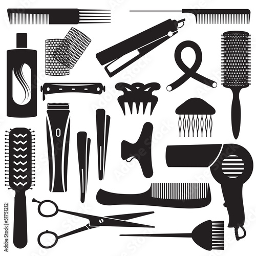 Hairdressing related symbols 2 - 51751212