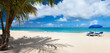 Panorama of a beautiful Caribbean beach
