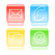 Glassy support icons. Vector illustration