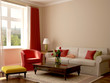 Interior in eclectic style