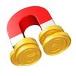 Magnet mit Euromünzen - Gewinne sichern