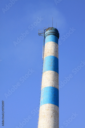 chimney in an industrial enterprise