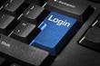Tastatur mit Login