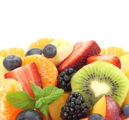 Close up of fresh mixed fruit salad