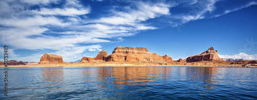 panoramic view on famous lake Powell