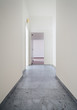 White apartment Interior, view of the corridor