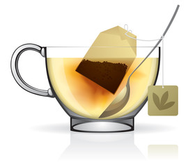 Tea bag in the cup