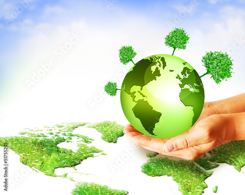 Environmental Concept. Globe in the hands