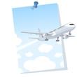 Avión saliendo de un cartel
