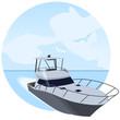 Yate navegando por el mar