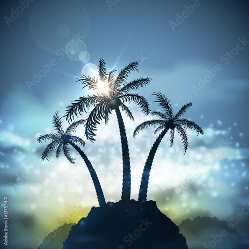 Trzy palmy