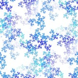 Seamless tileable fractal snowflakes image poster