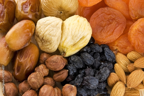 Assortment of dried fruits and nuts